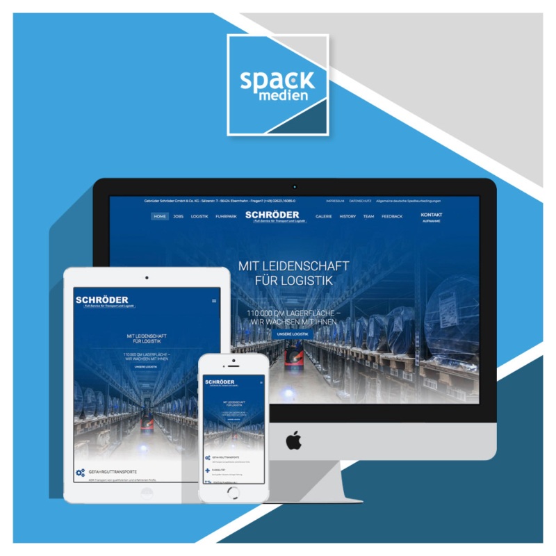 Spedition Schröder Webdesign